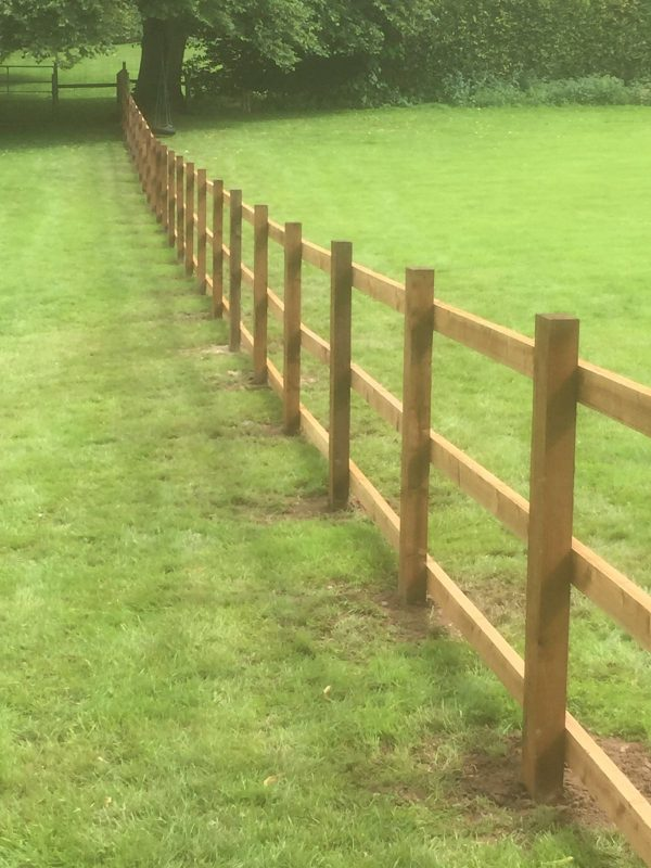 Post and rail fencing perfect for commercial purposes.