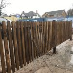 Wooden paling fencing offering security around a property in Birmingham.