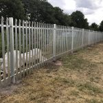 Steel commercial fencing securing an area in Birmingham.
