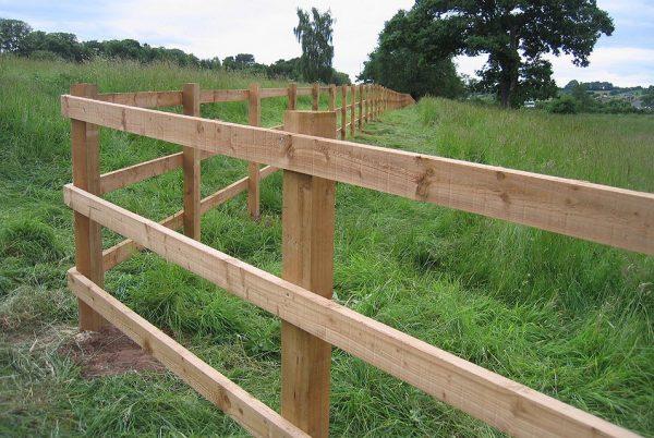 Commercial fencing on a farm in Birmingham.