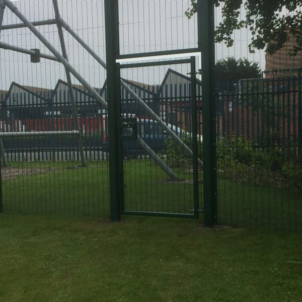 Double wire mesh gates perfect for commercial use.