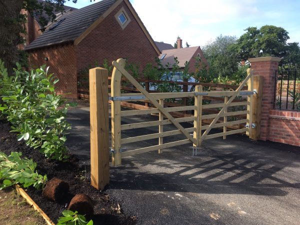 Wooden field gate perfect for domestic or commercial purposes.