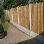 A garden on Birmingham with a long fence. The fence has close board fence panels.