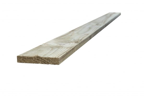 Pressure treated timber rail.