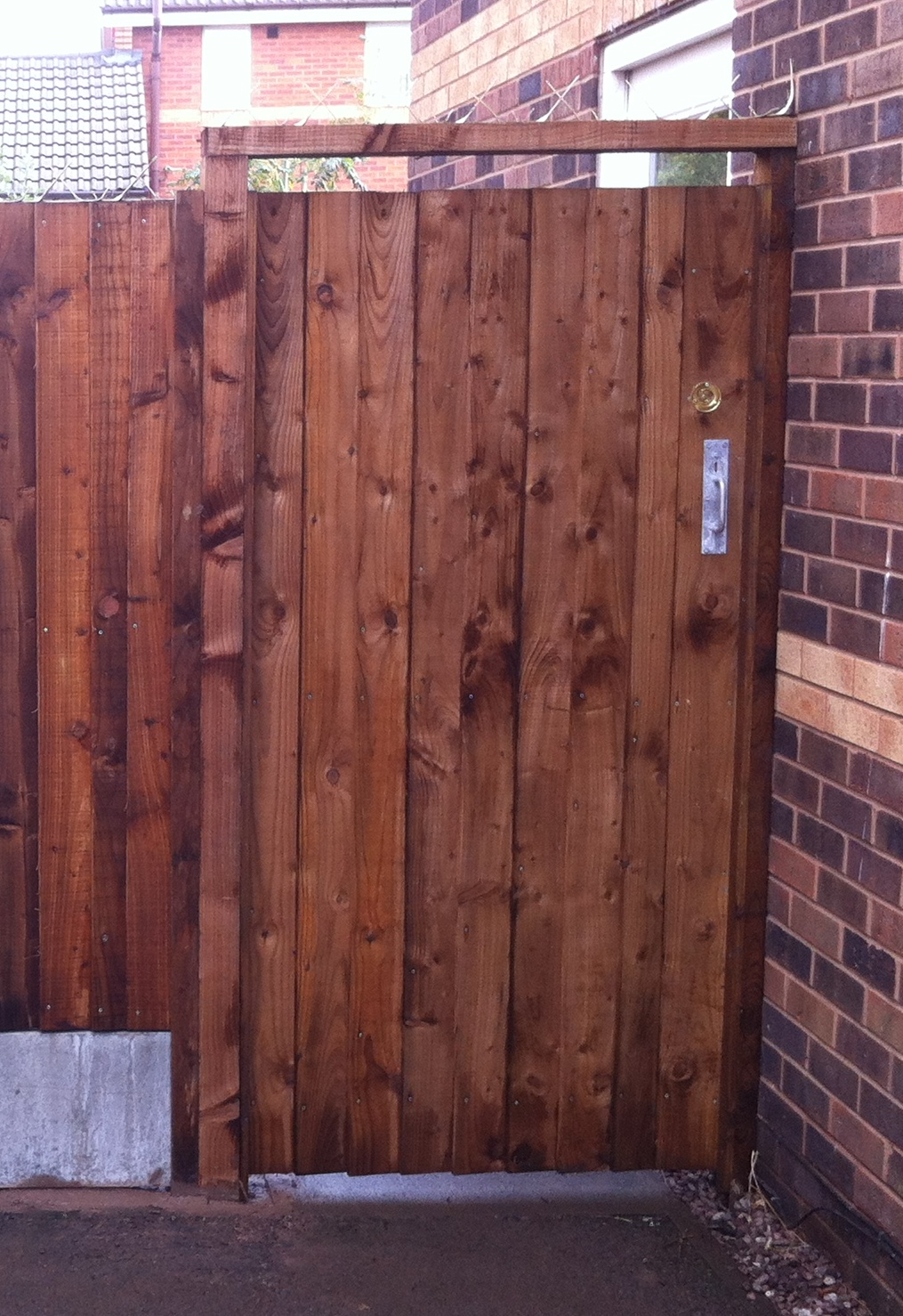 Wooden Gate Frame Clad With Feather Edged Boards
