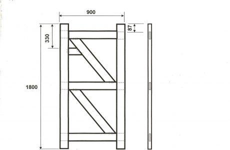 Gate frame measurements.