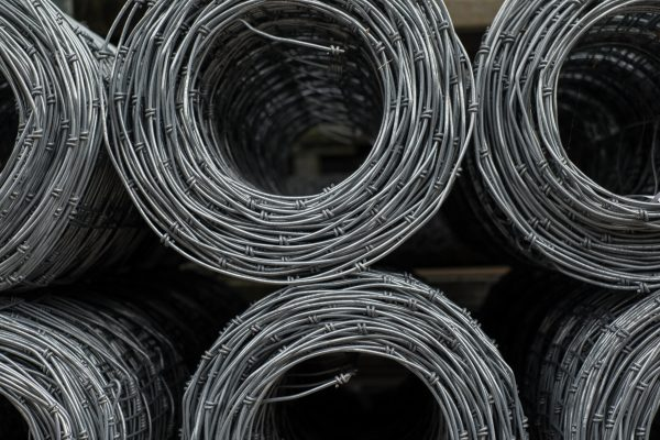 Six rolls of stock wire. Stock wire can be used for commercial and domestic fencing.
