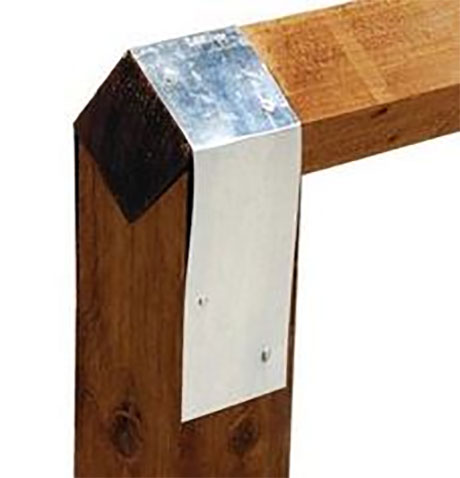 Pressure treated bird mouth posts designed to fit a 100 x 100 (4″ x 4″) timber rail.